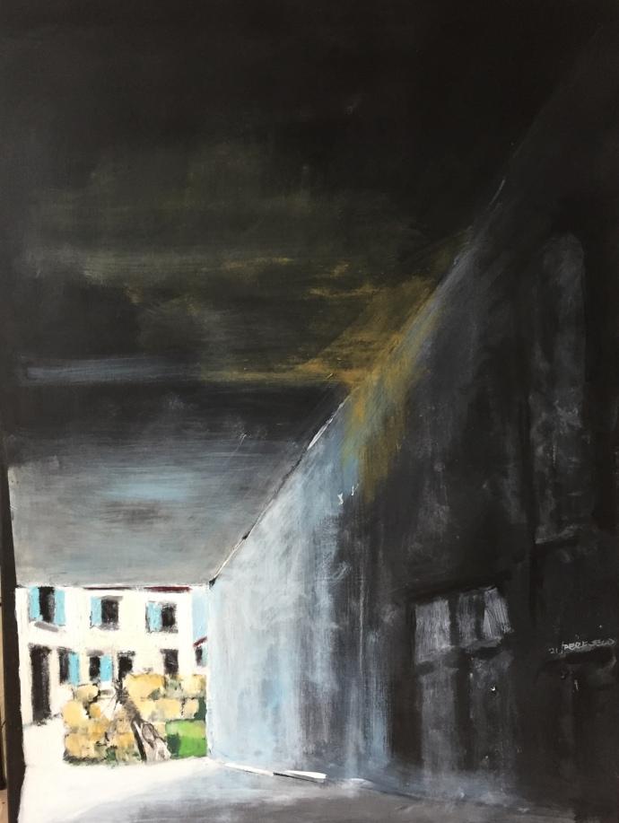 Per Kjeld maleri med titlen; Aabning af