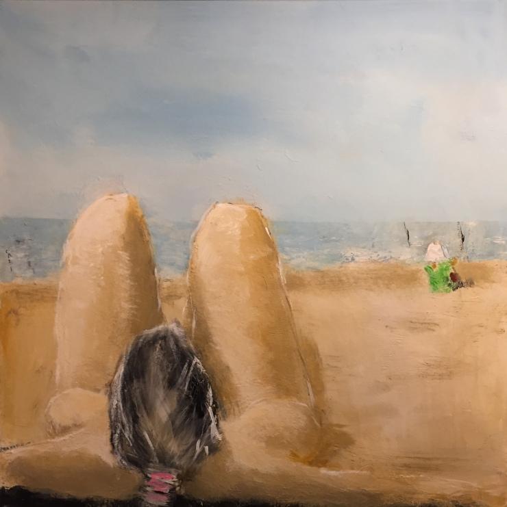 Per Kjeld maleri med titlen; Børnesikring
