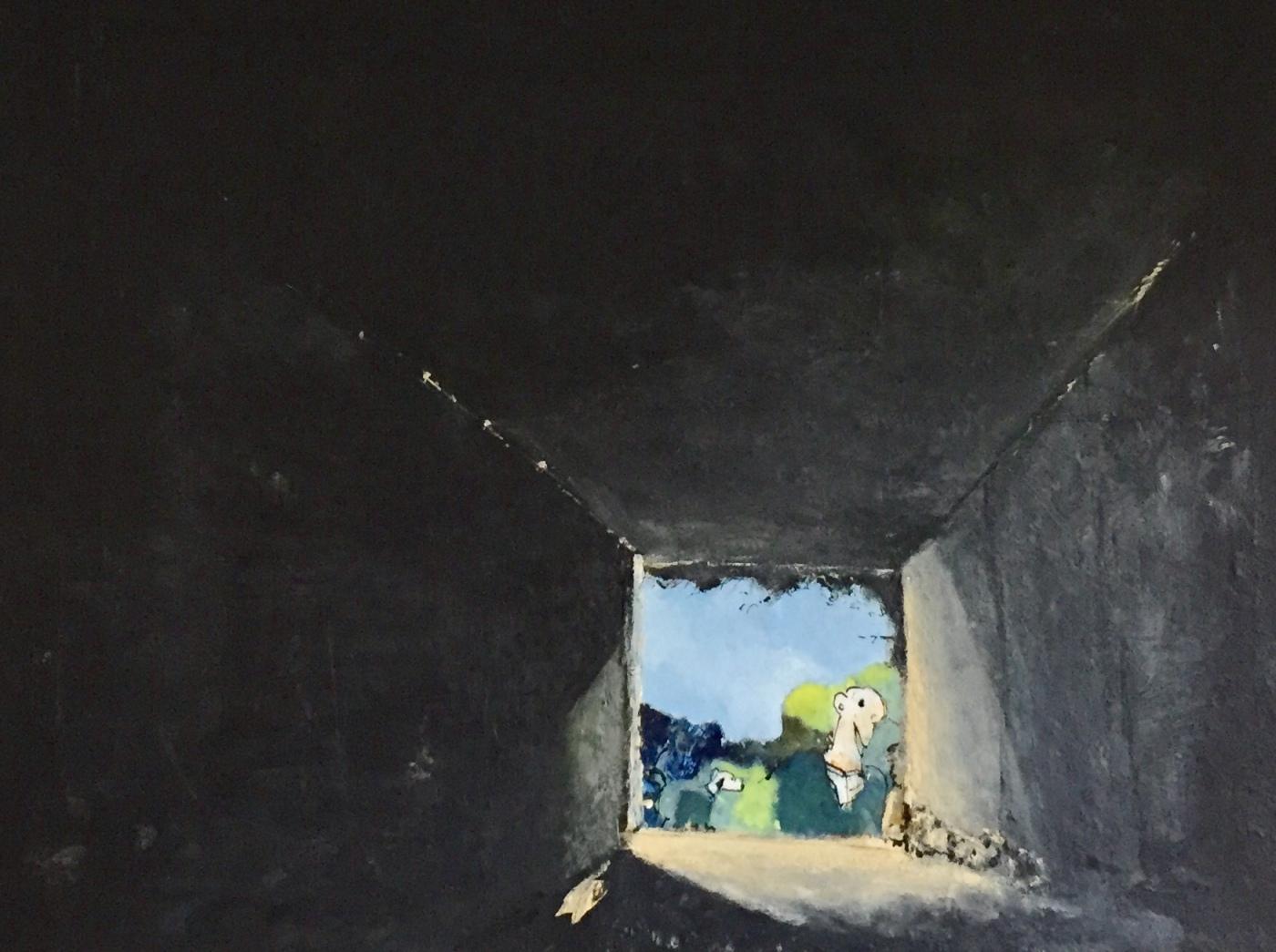 Per Kjeld maleri med titlen; Hul igennem