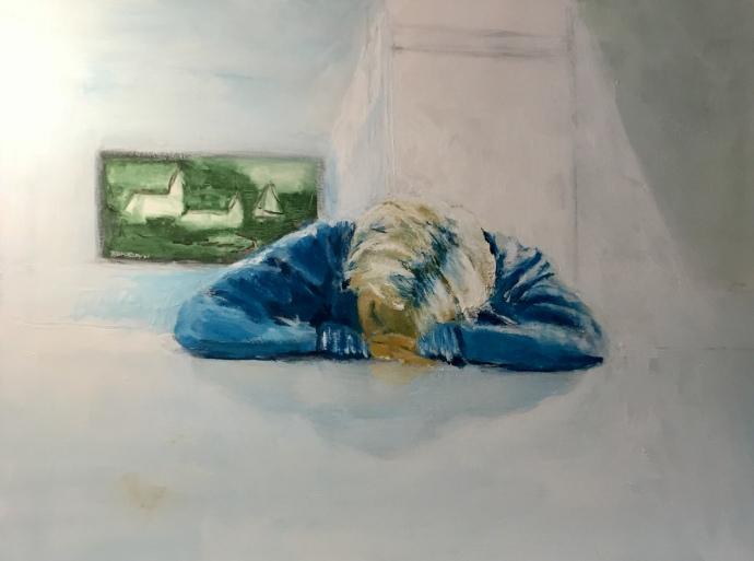 Per Kjeld maleri med titlen; Sleeping beauty