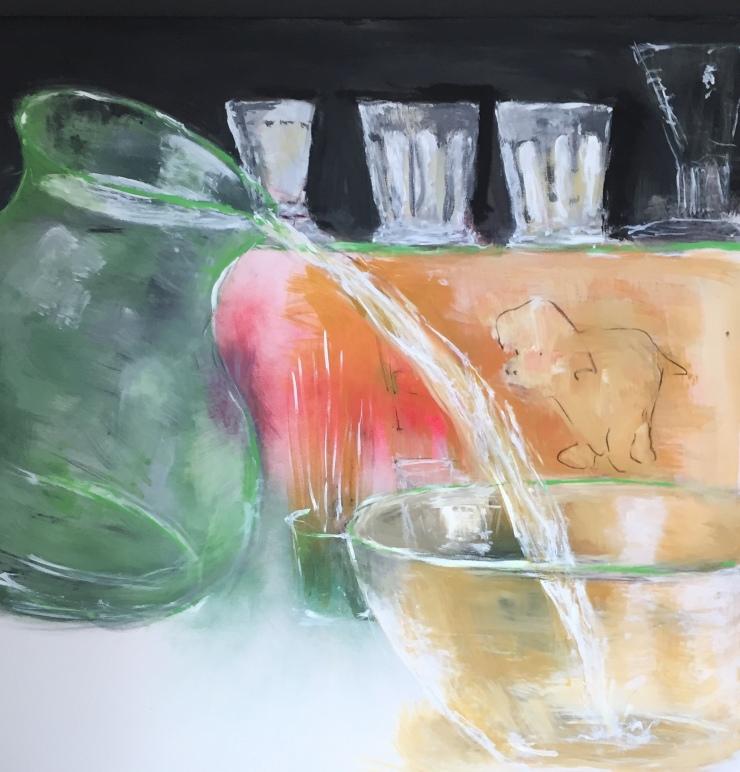 Per Kjeld maleri med titlen; Vandhæld